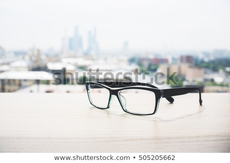 plastic and wooden rimmed eyeglasses Stock photo © nito