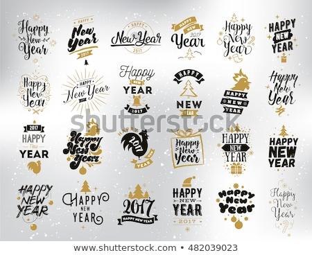 Happy new year 2017 invitation card, vector illustration Stock photo © carodi