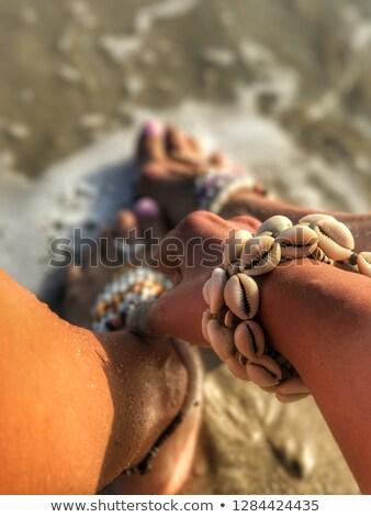 bracelet with seashells Stock photo © blackmoon979