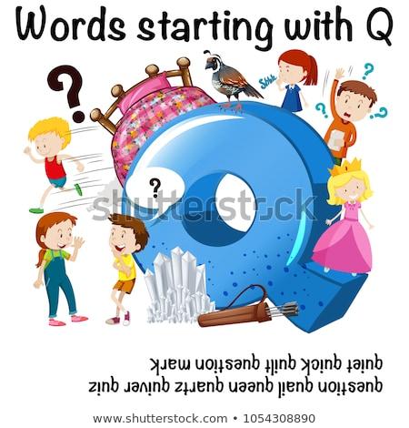 Flashcard letter Q is for quartz Stock photo © bluering