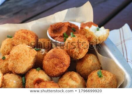 mozzarella croquette,cheese ball Stock photo © M-studio
