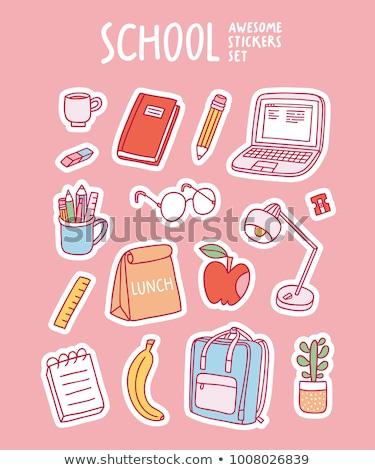 okula · geri · araçlar · araba · kitaplar · arka · plan - stok fotoğraf © kariiika