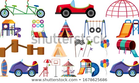 Playground scene with many stations Stock photo © bluering