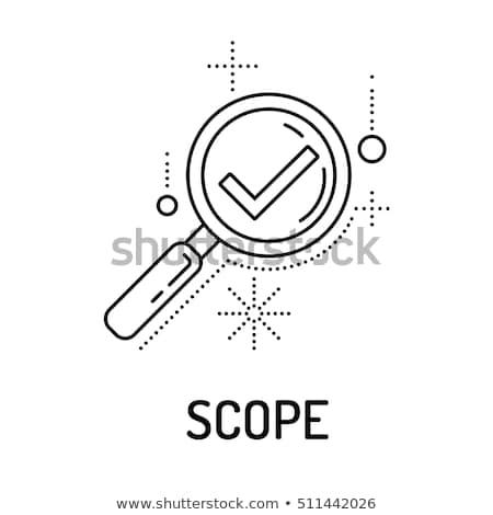scope icon stock photo © angelp