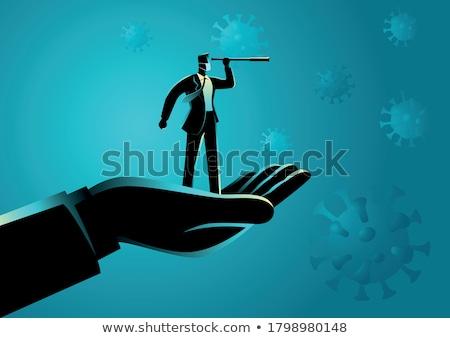 ビジネスマン 成長 男 ハンドシェーク ジャンプ チーム ストックフォト © kkunz2010