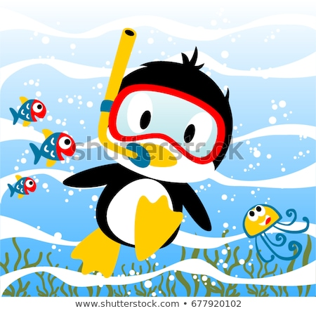 Stock photo: penguin with scuba mask