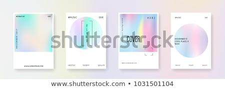 set of holographic background Stock photo © SArts