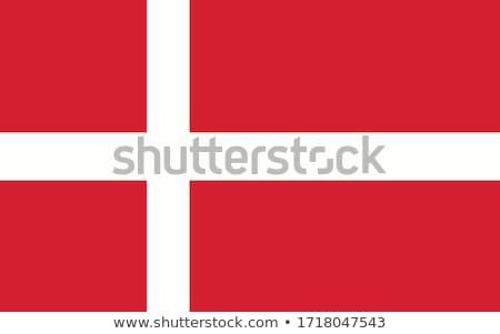 Illustratie eu vlag Denemarken geïsoleerd witte Stockfoto © tussik