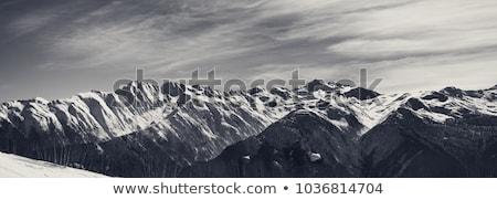 Dağ kafkaslar güzel mavi gökyüzü güneşli Stok fotoğraf © zhekos