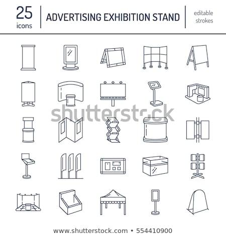 reclame · tentoonstelling · banner · display · lijn · iconen - stockfoto © Nadiinko
