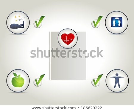 Healthy living layout, good quality of life Stock photo © Tefi
