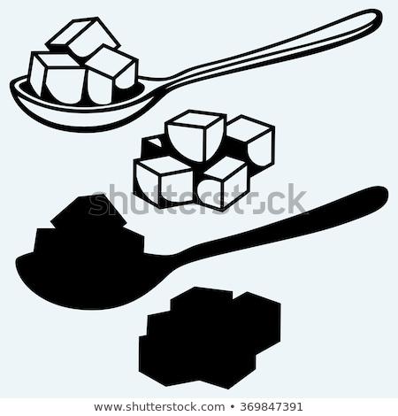 lump sugar pile isolated on the white background Stock photo © kayros