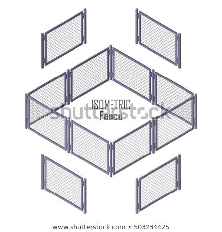 ゲート · 鉄 · デザイン · 金属 · 黒 - ストックフォト © robuart