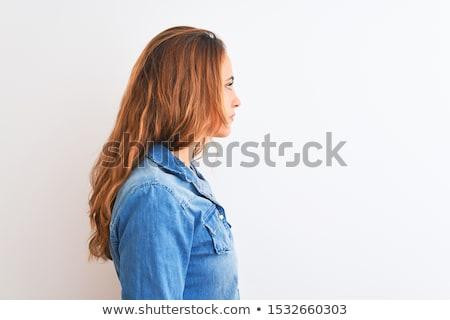 belle · jeunes · fille · attitude · fort - photo stock © lithian