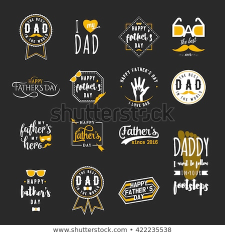 Happy Fathers day tie seal illustration design Stock photo © alexmillos