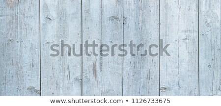 Stock fotó: Light Aqua Blue Vintage Wood Texture Top View Wooden Board