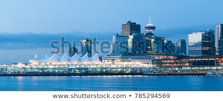 Vancouver BC Skyline During Blue Hour Panorama Stock photo © davidgn