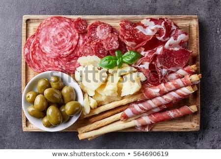 salami,cheese and bread Stock photo © M-studio