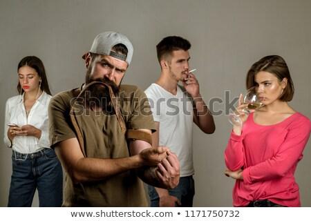 hopeless drug addict going through addiction crisis stock photo © stevanovicigor