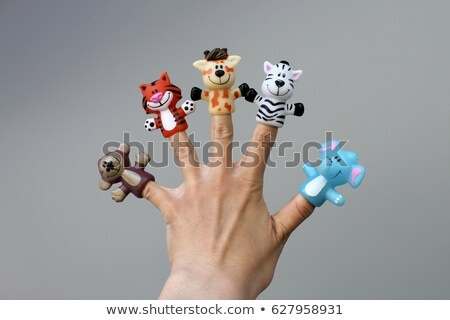 Animal dedo mão humana ilustração rabino fundo Foto stock © bluering