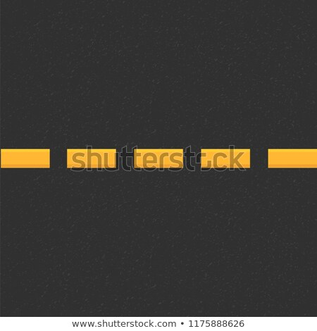 Yellow dashed line on empty asphalt road Stock photo © stevanovicigor