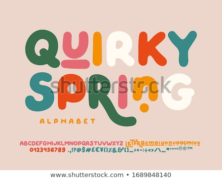 Font design for numbers and signs Stock photo © bluering