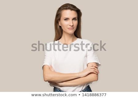 Közelkép fej vállak portré nő felnőtt Stock fotó © chesterf