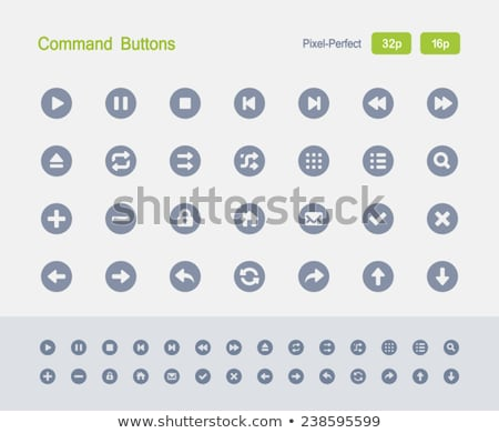 Command Buttons - Granite Icons Stock photo © micromaniac