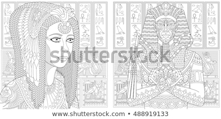 Coloring book ancient mummy Stock photo © clairev
