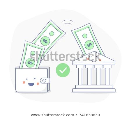 Banco depósito modelo de design fino linha Foto stock © Genestro
