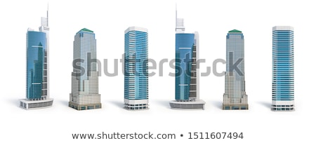 Abstract building 3d scene stock photo © ixstudio