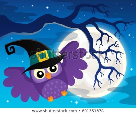 Photo stock: Halloween · chouette · sujet · image · art · oiseau