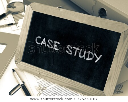 Business Cases on Ring Binder. Blured, Toned Image. Stock photo © tashatuvango