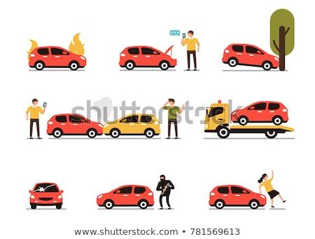 emergency car flat vector icon stock photo © ahasoft