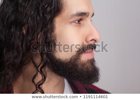 Mode brunette lang portret Stockfoto © julenochek