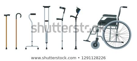 Crutch Flat Icon Stock photo © ahasoft