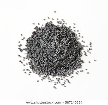 全体 黒 ケシ 種子 ガラス ボウル ストックフォト © Digifoodstock