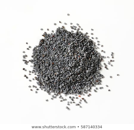 Stockfoto: Geheel · zwarte · poppy · zaden · glas · kom