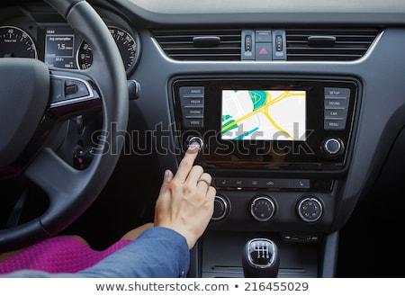 GPS nawigacja samochodu pojazd okno zielone Zdjęcia stock © stevanovicigor