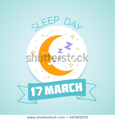 17 slaap dag kalender wenskaart vakantie Stockfoto © Olena