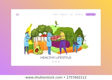 Gazda megvizsgál paradicsom gyümölcs megnőtt organikus Stock fotó © stevanovicigor