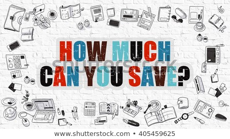 how much can you save concept with doodle design icons stock photo © tashatuvango