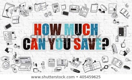 illusztráció · útjelzés · vásárol · gazdaság · luxus · konzerv - stock fotó © tashatuvango