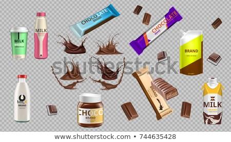 Digitale vector chocolade melk fles bars Stockfoto © frimufilms