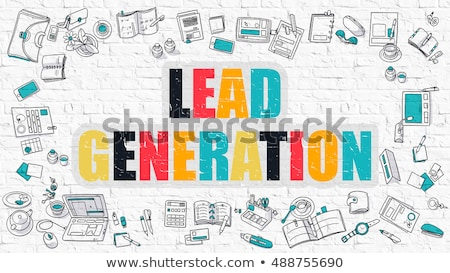 lead generation in multicolor doodle design stock photo © tashatuvango