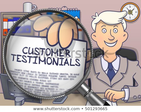 Customer Testimonials through Lens. Doodle Concept. Stock photo © tashatuvango