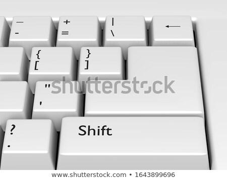 Data - Inscription on the White Keyboard Key. 3D. Stock photo © tashatuvango