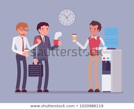 Office workers standing by water cooler Stock photo © IS2