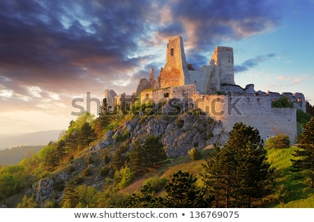 ruins of cachtice castle slovakia stock photo © phbcz