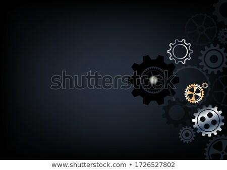 Systems Engineering on Golden Metallic Cog Gears. Stock photo © tashatuvango